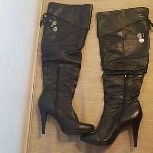 Jessica Simpson Over The Knee Leather Boots